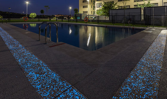 LuminTech® - reveals concrete brilliance in the dark